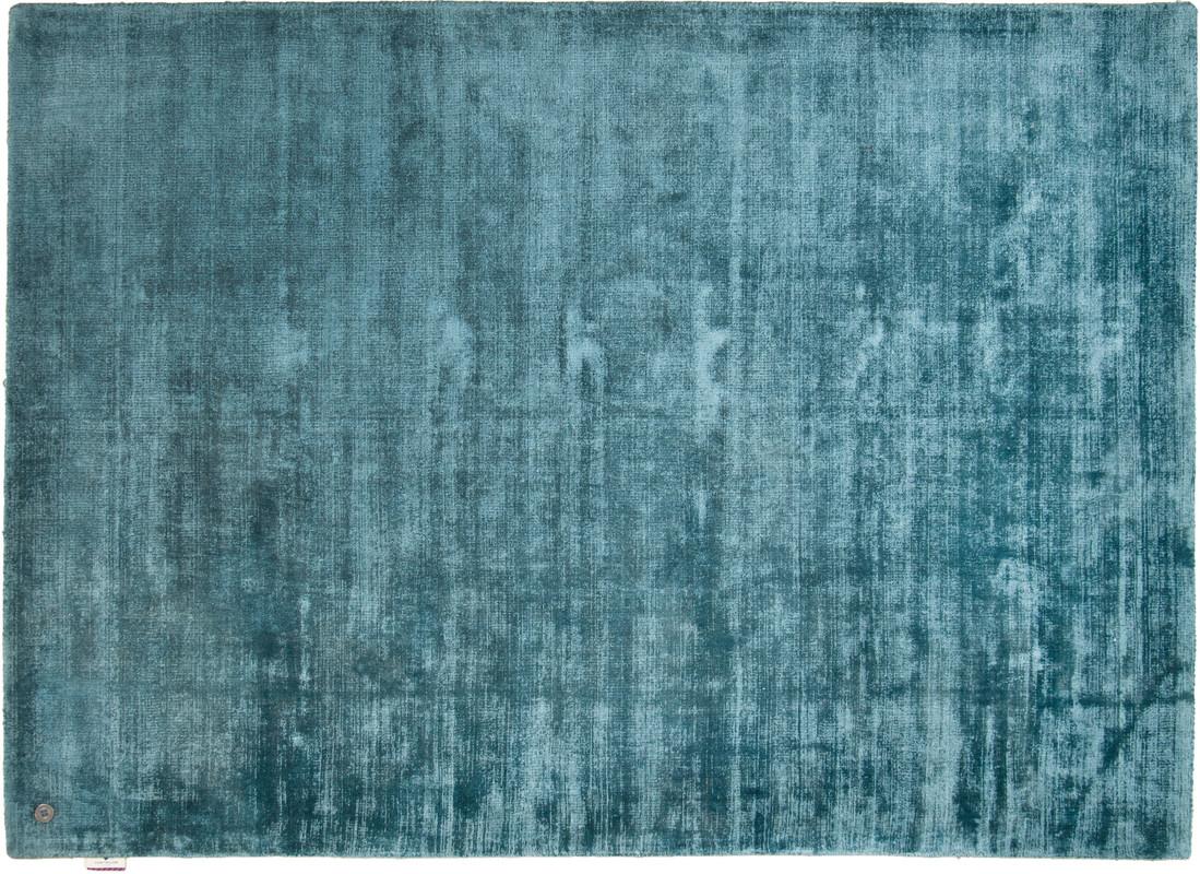 tom tailor viskose teppich shine uni blau bei tepgo kaufen versandkostenfrei. Black Bedroom Furniture Sets. Home Design Ideas