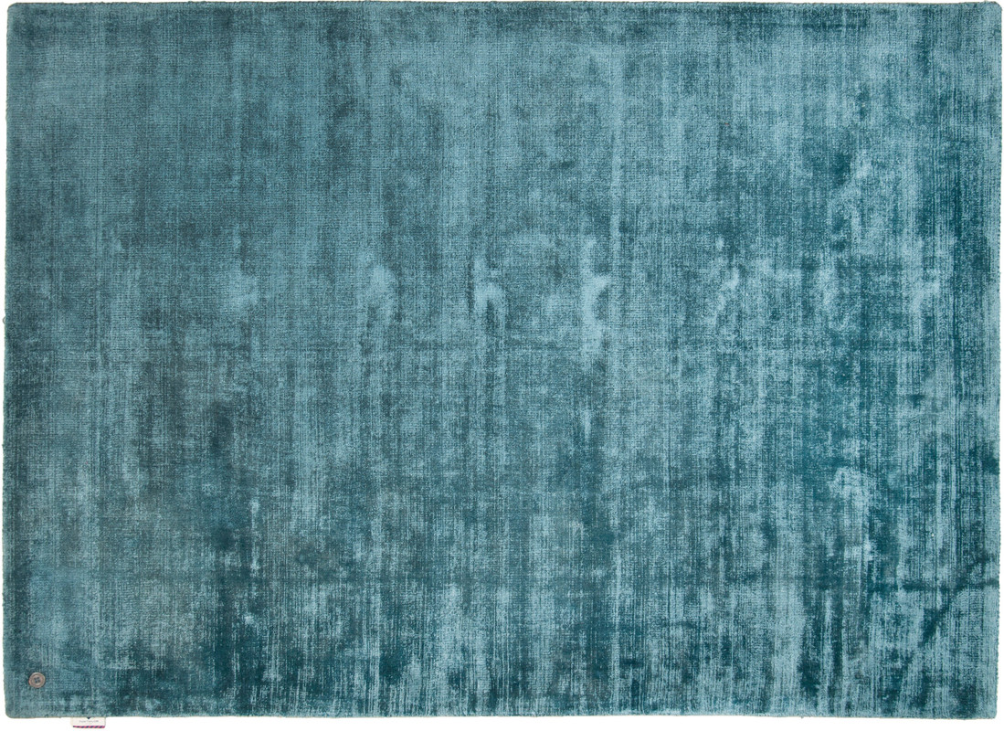 tom tailor viskose teppich shine uni blau bei tepgo. Black Bedroom Furniture Sets. Home Design Ideas