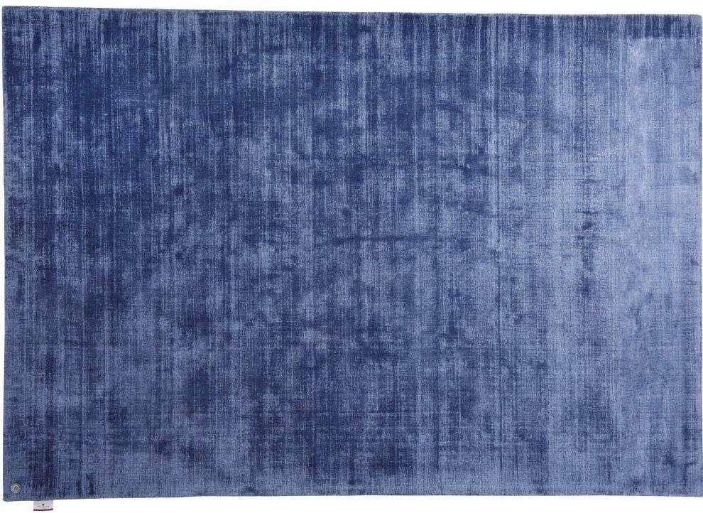 tom tailor viskose teppich shine uni 700 blau bei tepgo. Black Bedroom Furniture Sets. Home Design Ideas
