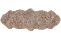 Luxor Living Schaffell Double, taupe 60 cm x 160 cm