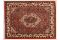 Oriental Collection Bidjar m.Seide rot 76008, Perser-Teppich