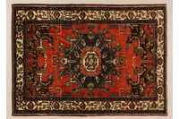 Oriental Collection Sarough Teppich rot 76086, reine Schurwolle
