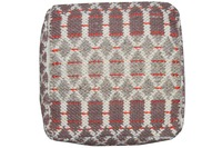 "Tom Tailor Pouf Smooth Comfort ""Small Pattern"", red"