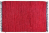 Tom Tailor Teppich Cotton Colors, Uni, red