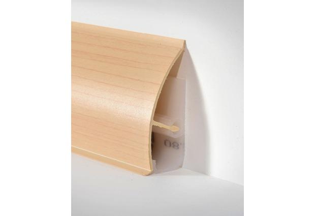 d llken md 63 systemsockelleiste ahorn paketinhalt 2 5 m profile schienen. Black Bedroom Furniture Sets. Home Design Ideas