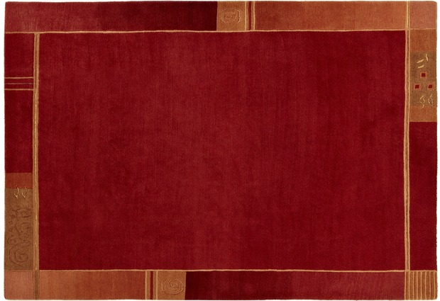Luxor Living Teppich Dharan rot  Nepal Nepalteppich bei