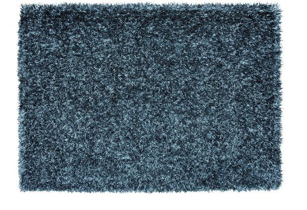 Schöner Wohnen Teppich Twist graublau  Hochflor Hochflor