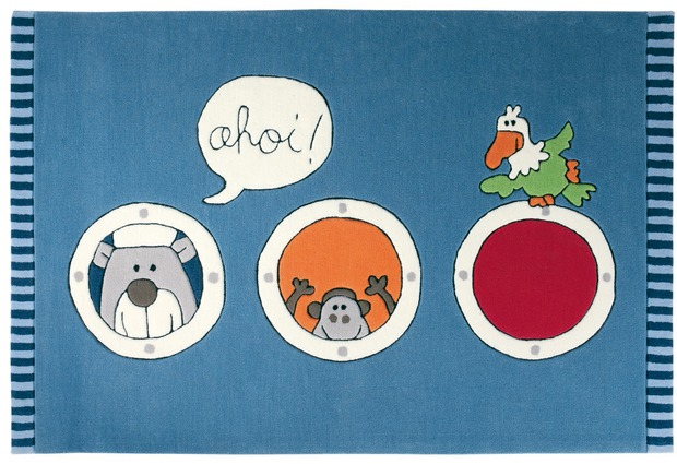 Sigikid KinderTeppich Olaf Laola Ahoi SK334401 blau