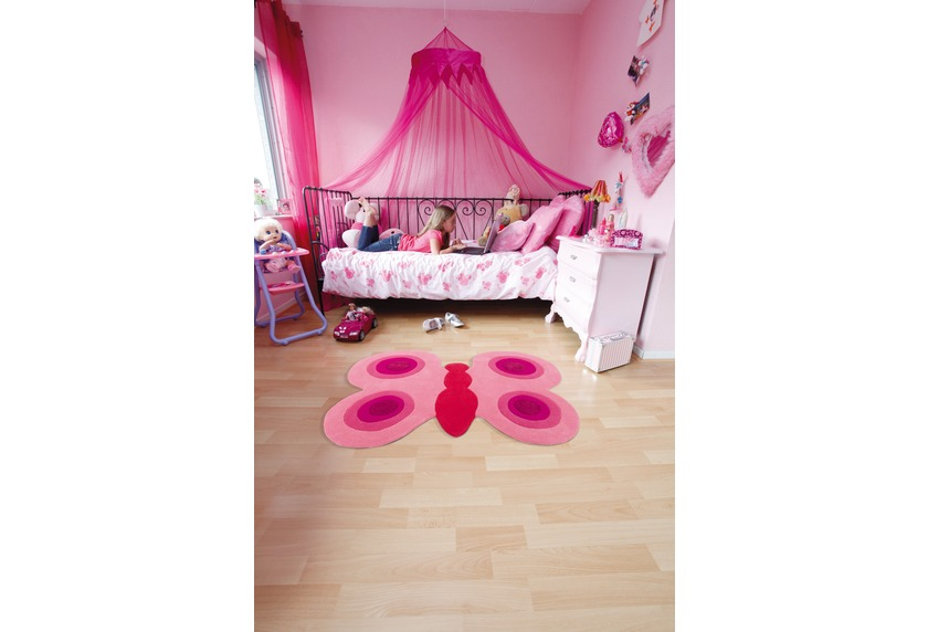 Teppich Schmetterling Rosa ~ Arte espina kinder teppich joy pink schmetterling tiere