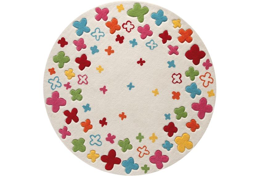 teppich kinder rund, esprit kinder-teppich, bloom field esp-2980-01 beige, Öko-tex 100, Design ideen