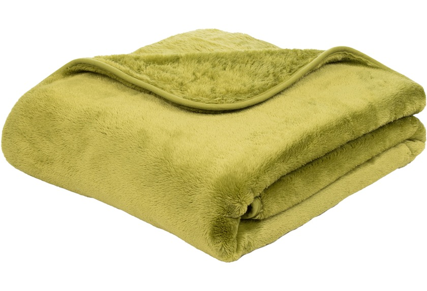 Gozze Premium Cashmere Feeling Decke Limonegrun Wohnen Einrichten
