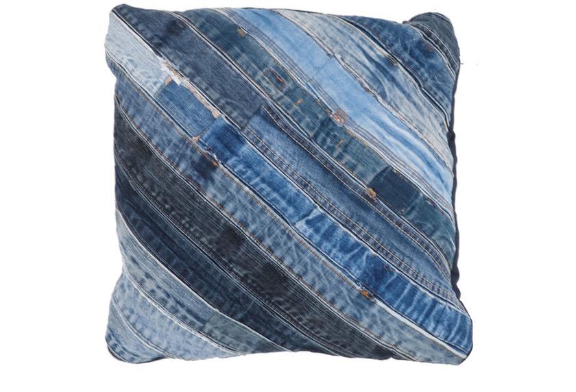 Kayoom Sofakissen Denim Pillow 210 Jeansblau 45 X 45 Cm