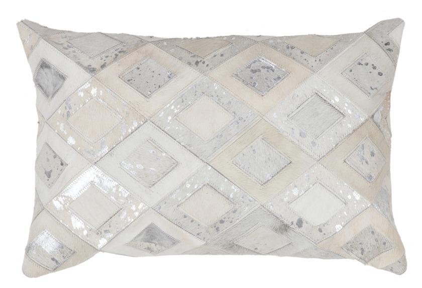 Kayoom Lederkissen Spark Pillow 110 Grau Silber