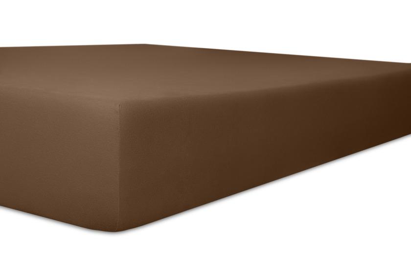 Kneer Spannbetttuch Single Jersey Qualitat 60 Farbe 79 Mocca