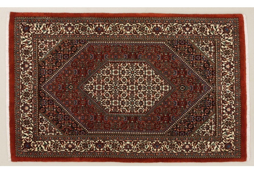 Oriental Collection Bidjar m.Seide rot 76072, Perser-Teppich