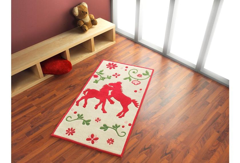 pferdefreunde pferde teppich hell blumenwiese bauernhof. Black Bedroom Furniture Sets. Home Design Ideas