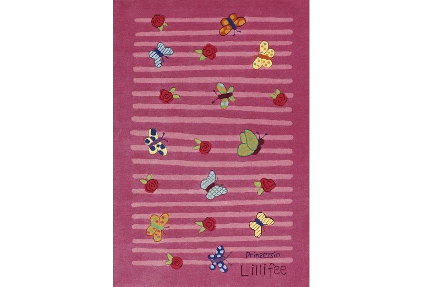 Teppich Schmetterling Rosa ~ Prinzessin lillifee kinder teppich schmetterlinge Öko tex