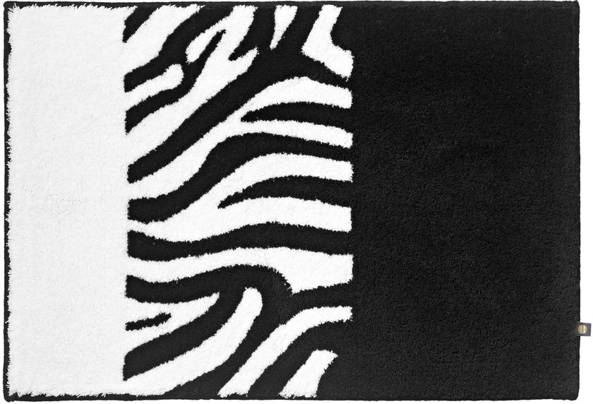 Rhomtuft Badteppich Zebra Schwarz Weiss Badteppiche Bei Tepgo Kaufen