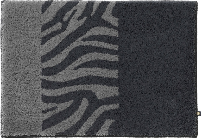 Rhomtuft Badteppich Zebra Zink Kiesel Badteppiche Bei Tepgo Kaufen